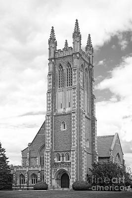 Collegiate Photograph - Williams College Thompson Memorial Chapel by University Icons