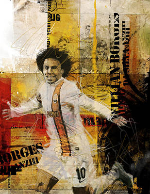 Qatar Painting - Willian Borges Di Silva by Corporate Art Task Force