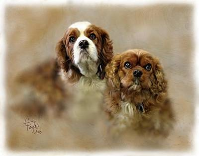 Cocker Spaniel Mixed Media - Willie And Maggie by Colleen Taylor