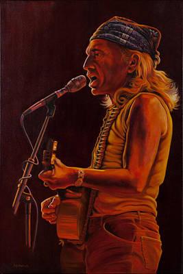 Willie In Austin Original by Debbie Patrick