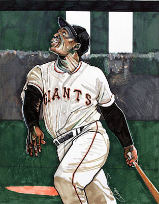 Willie Mays Print by Dave Olsen
