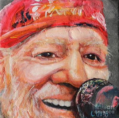 Willie Nelson 2 Original by Carol Boss