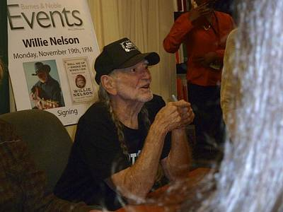 Willie Nelson Print by Kenneth Summers