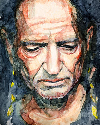 Impresionism Painting - Willie Nelson  by Laur Iduc