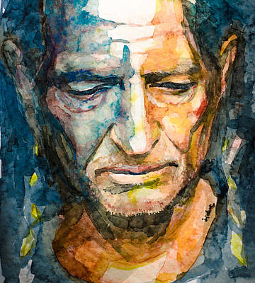 Crying Painting - Willie Nelson  by Laur Iduc