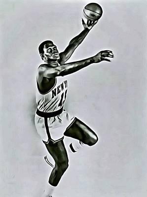 Knicks Painting - Willis Reed by Florian Rodarte