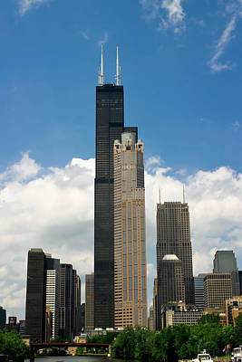 Chicago River Photograph - Willis Tower Aka Sears Tower by Adam Romanowicz