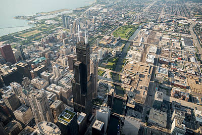Willis Tower Southwest Chicago Aloft Original by Steve Gadomski