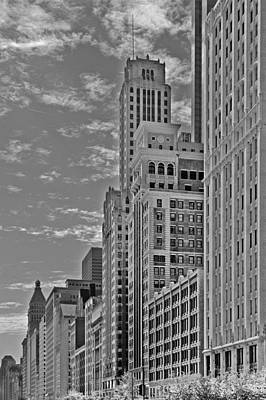 Tower Photograph - Willoughby Tower And 6 N Michigan Avenue Chicago  by Christine Till