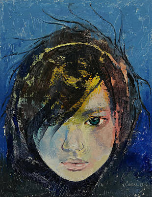 Manga Painting - Willow by Michael Creese