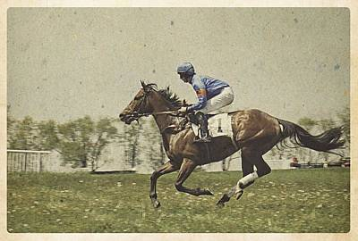 Steeplechase Race Photograph - Willowdale - Don't Tell Sailor IIi by Richard Reeve