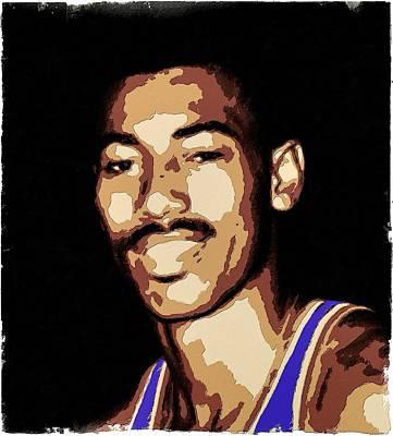 Basketball Painting - Wilt Chamberlain Poster Art by Florian Rodarte
