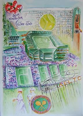 Wimbledon Painting - Wimbledon 2014 by Elaine Duras