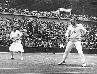 Wimbledon Championship Play Print by Underwood Archives