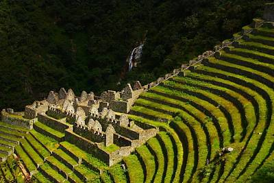 Inca Photograph - Winay Wayna Wide View by FireFlux Studios