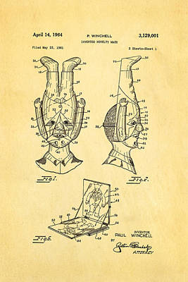 Inverted Photograph - Winchell Inverted Novelty Mask Patent Art 1964 by Ian Monk