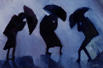 Wind And Rain Print by Willie Rodger