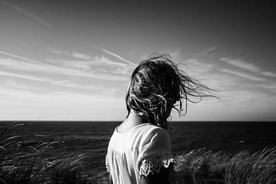 Thoughtful Photograph - Wind Blowing by Charo Diez