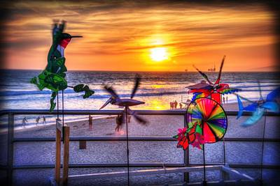 Wind Chimes At Sunset Print by Spencer McDonald