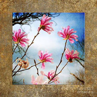 Wind In The Magnolia Tree Square Print by Andee Design