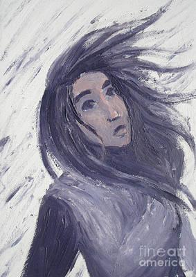 Windblown Painting - Wind by Kendra Tharaldsen-Franklin