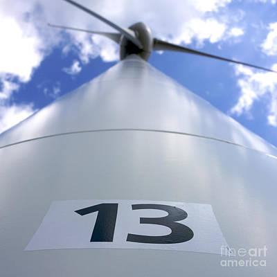 Eco Friendly Print featuring the photograph Wind Turbine. No 13 by Bernard Jaubert