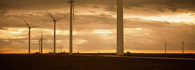 Wind Turbines In A Field, Amarillo Print by Panoramic Images
