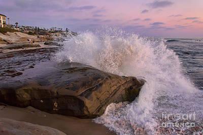Windansea Beach 2 Print by Eddie Yerkish