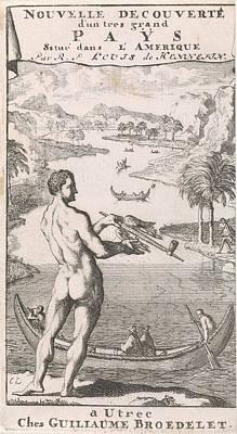Winding River In An Exotic Landscape, Caspar Luyken Print by Caspar Luyken And Willem Broedelet