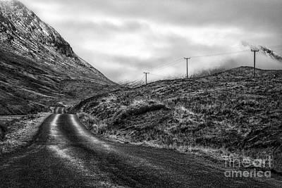 Winding Road In Glen Etive Print by John Farnan