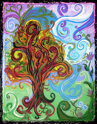 Fun Card Mixed Media - Winding Tree by Genevieve Esson