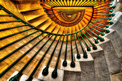 Staircase Photograph - Winding Up by Chad Dutson