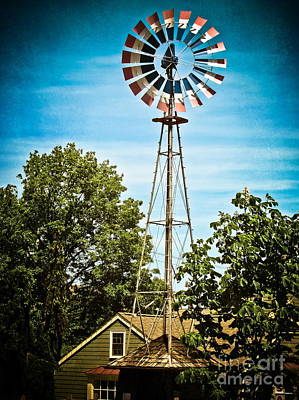 Windmill Print by Colleen Kammerer
