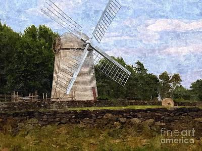 Windmill Print by Diane Goulart