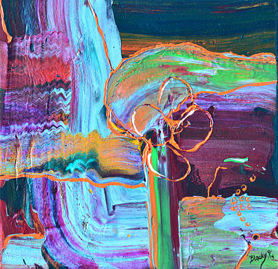 Abstract Windmill Painting - Windmill by Donna Blackhall