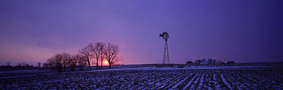 Windmill In A Field, Illinois, Usa Print by Panoramic Images