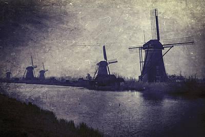 Haze Photograph - Windmills by Joana Kruse