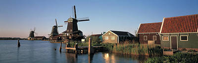 Windmills Zaanstreek Netherlands Print by Panoramic Images