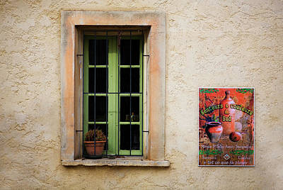 Window Signs Photograph - Window And Poster In Minerve by Panoramic Images