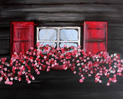 Window Box Print by Vicki Kennedy