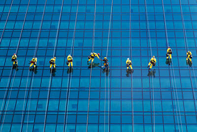 Window Cleaners Print by David Van der Want