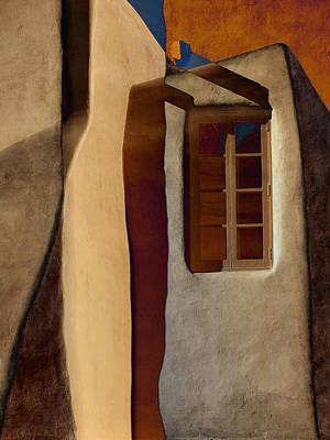 Window De Santa Fe Print by Carol Leigh
