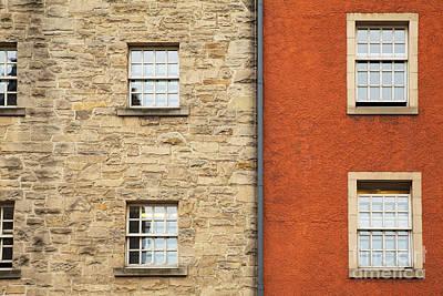 Drain Photograph - Window Detail Edinburgh by Jane Rix