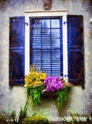 The Main Photograph - Window Flower Box View by Janine Riley