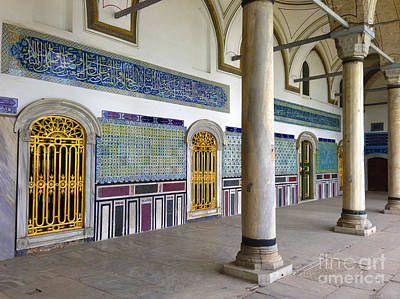 Window Of The Chamber Of The Holy Mantle In The Topkapi Palace Istanbul Turkey Print by Ralph A  Ledergerber-Photography
