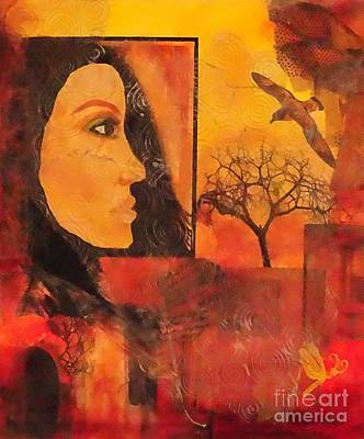 Soaring Mixed Media - Window On The World by Kat McClure
