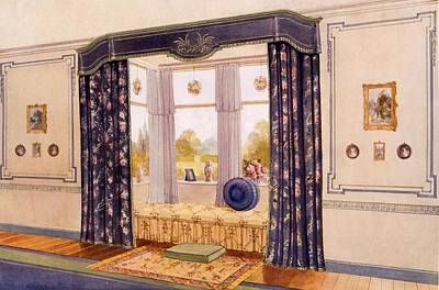Window Seat Encased By Luxurious Print by Richard Goulburn Lovell