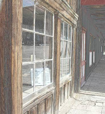 Old Barn Drawing Photograph - Window Shopping          Colored Pencil by Mark Eisenbeil