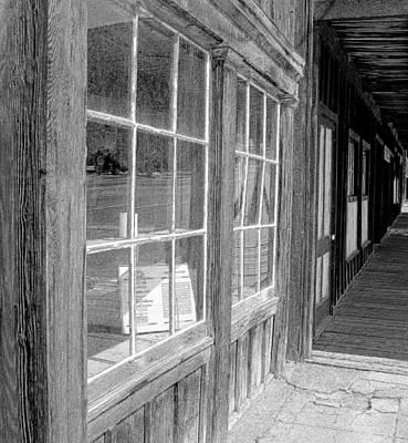 Old Barn Drawing Photograph - Window Shopping        Pencil by Mark Eisenbeil