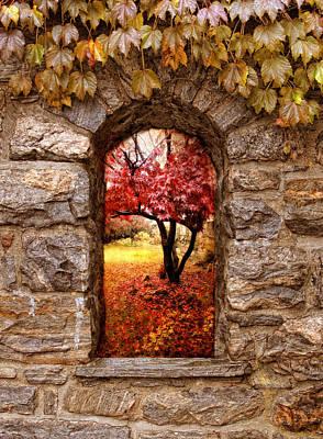 Maple Leaf Digital Art - Window To Autumn by Jessica Jenney